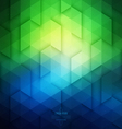 Abstract Geometric Technological Blue And Green vector image