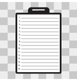 Clipboard with check list vector image vector image