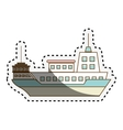 cruise ship isolated icon vector image