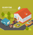 delivery moving new settler vector image