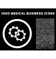 Gears Rounded Icon With Medical Bonus vector image