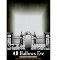 Halloween Graveyard vector image