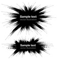 Hand Drawn Grunge Black Banners vector image