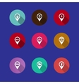 map navigation icons vector image
