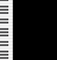 Music background with piano keys vector image