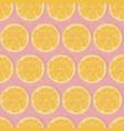 seamless oranges background vector image