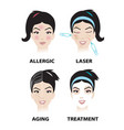skin problems and skin care vector image