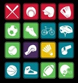 sport icon basic style vector image