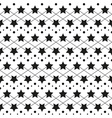 Star monochrome seamless texture vector image
