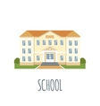 School Icon on white background vector image