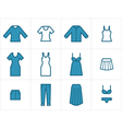 Clothing Icons Set 2 vector image vector image
