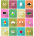 school education flat icons 18 vector image vector image