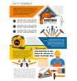 handyman service poster of man with work tool vector image vector image