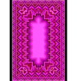 Refined oriental carpet in purple shades vector image