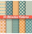 Attractive seamless patterns tiling vector image