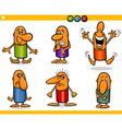 cartoon people emotions set vector image