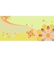 Childrens floral pattern vector image