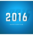 Happy New Year 2016 3d message vector image vector image