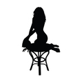 woman posing black silhouette vector image