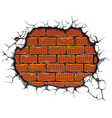 damaged brickwall vector image