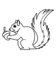 cute squirrel eats nut nature wildlife image vector image