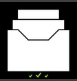 documents archieve or drawer it is white icon vector image