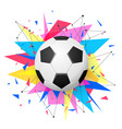 football emblem template soccer ball with shapes vector image