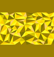 golden ore low poly art graphic background vector image
