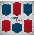 Grunge denim labels vector image
