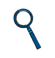 Magnifier investigation discovery search zoom vector image