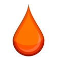medic red blood drop sign red color vector image