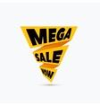 Mega sale design template Creative banner vector image