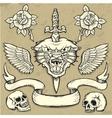 Panther Wild Tattoo Set vector image