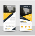 Yello triangle business roll up banner flat design vector image
