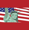 usa flag with statue vector image
