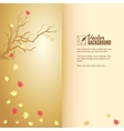 Autumn leaf fall colorful background vector image