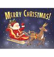 Santa sleigh and reindeer vector image