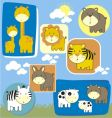 Baby animals set vector image