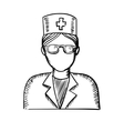 Sketch of a doctor or nurse vector image