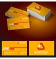 Modern minimalist standard business card vector image