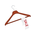 Clothes hanger vector image