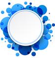 Round blue background vector image