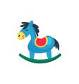 icon of blue plastic rocking horse little pony vector image