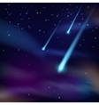 Night sky with comets wallpaper vector image