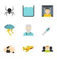 phobia symbols icon set flat style vector image
