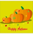 Pumpkin with colorful autumn vector image