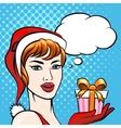 Santa Girl vector image