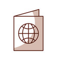 shadow passport cartoon vector image
