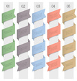 Trendy numbered banners in origami style vector image vector image