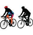 two cyclist vector image vector image